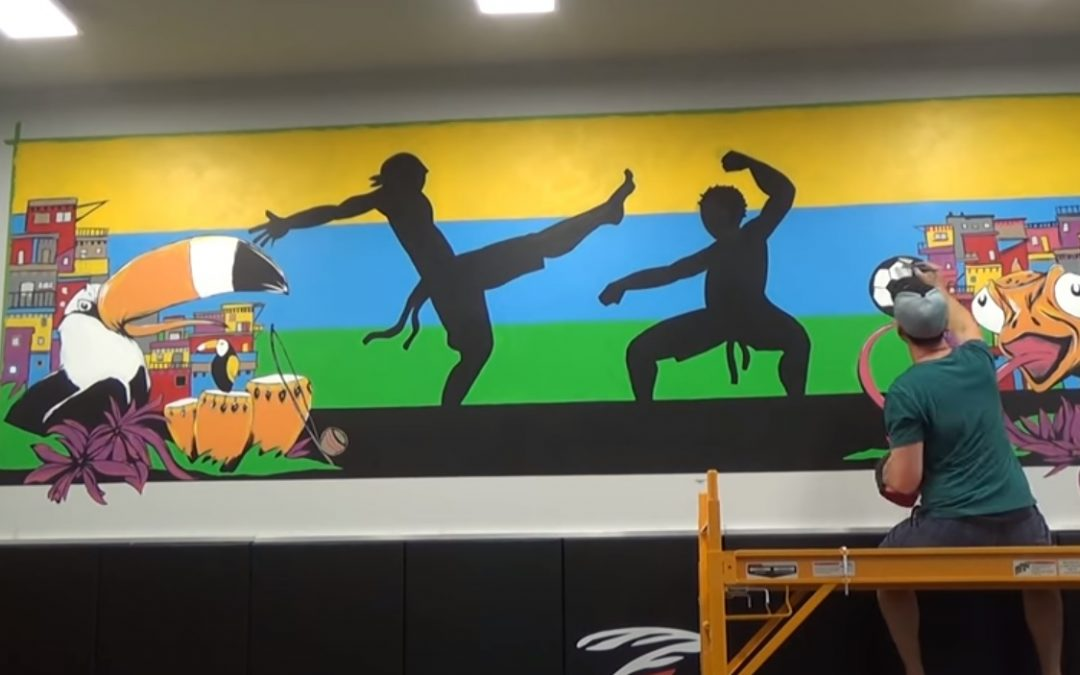 Jiu Jitsu Mural Finished